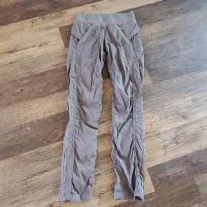 Lululemon gray spots pants elastic waist size 4